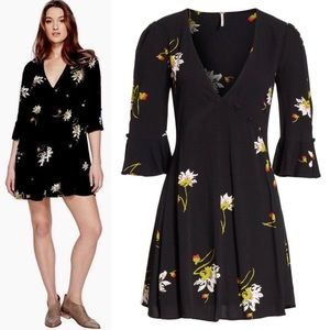FreePeople Time On My Side Floral Print Wrap Dress
